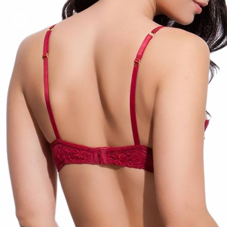 c1375f97bf Red Lace Christabel Bra - BrandAlley