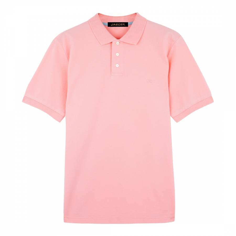 cc49791d4 Light Pink Cotton Pique Polo Shirt - BrandAlley