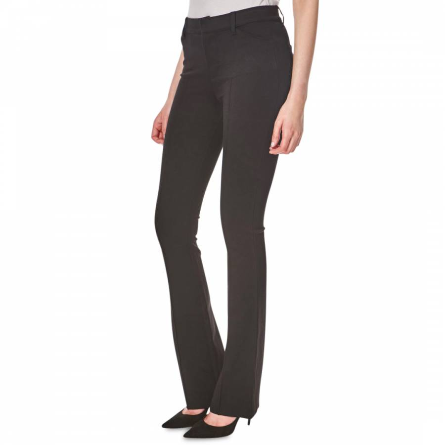 High rise slim bootcut stretch jeans