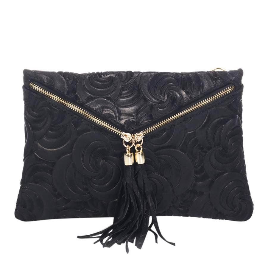 Lisa Minardi Black Leather Textured Clutch Bag. prev. next. Zoom 863d5871c2b03