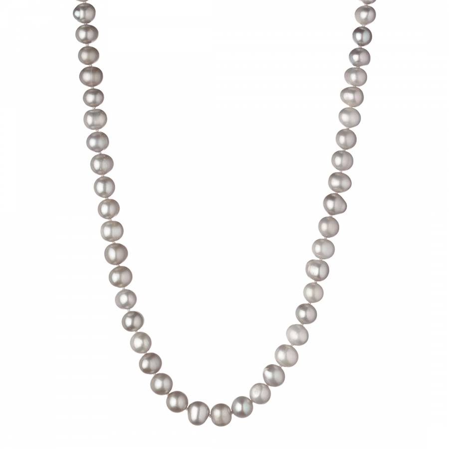 abe7f146f7a599 Silver Freshwater Pearl Short Necklace 8-9mm - BrandAlley