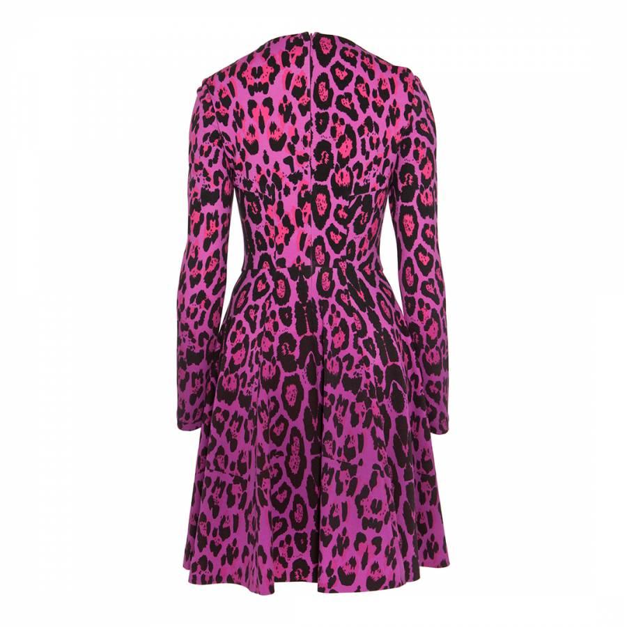 Pink Leopard Gwen Skater Dress - BrandAlley 2d4aaac44