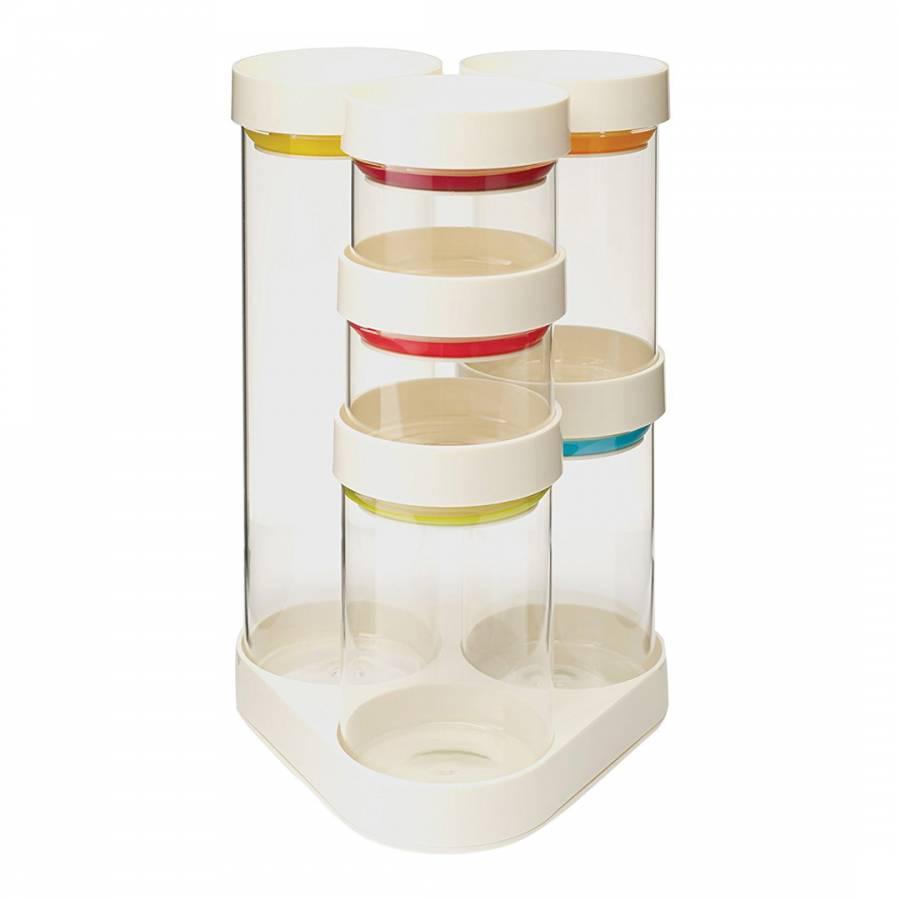 Joseph Joseph White Food Store Carousel Glass Storage Set  sc 1 st  BrandAlley & White Food Store Carousel Glass Storage Set - BrandAlley