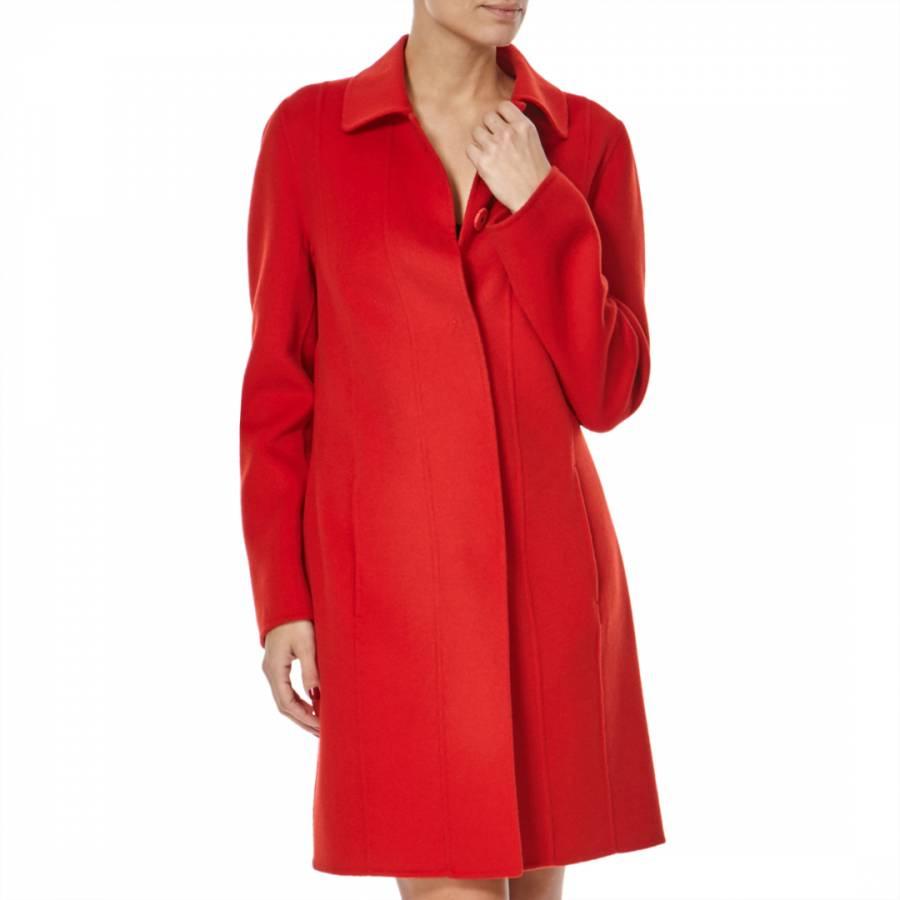 8f3806a7f72 Boss by Hugo Boss Red Wool Cashmere Cegina Coat