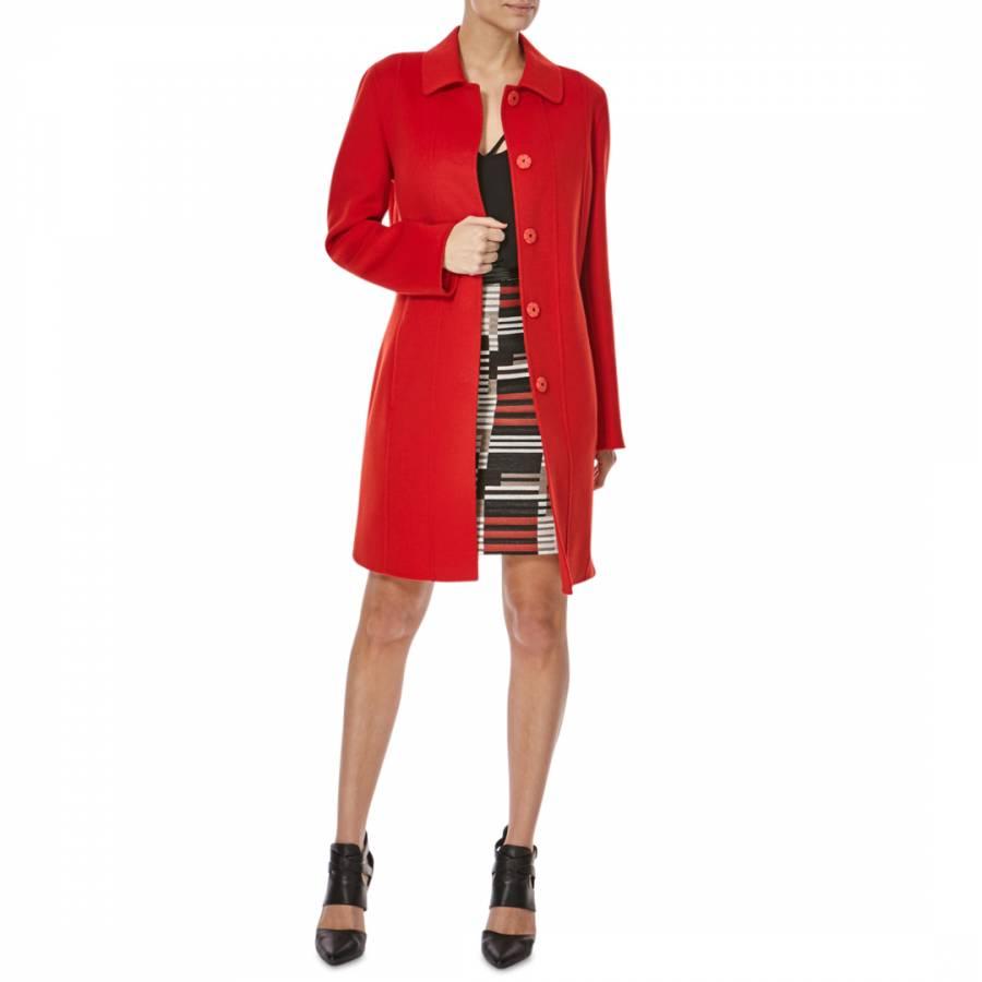 a2941d6e0 Boss by Hugo Boss Red Wool Cashmere Cegina Coat. prev
