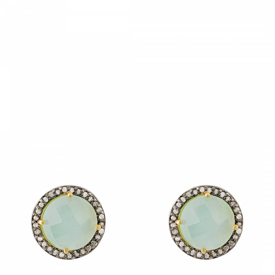 f6a1b6a3d5c Zoom · Liv Oliver Green Chalcedony Crystal Stud Earrings