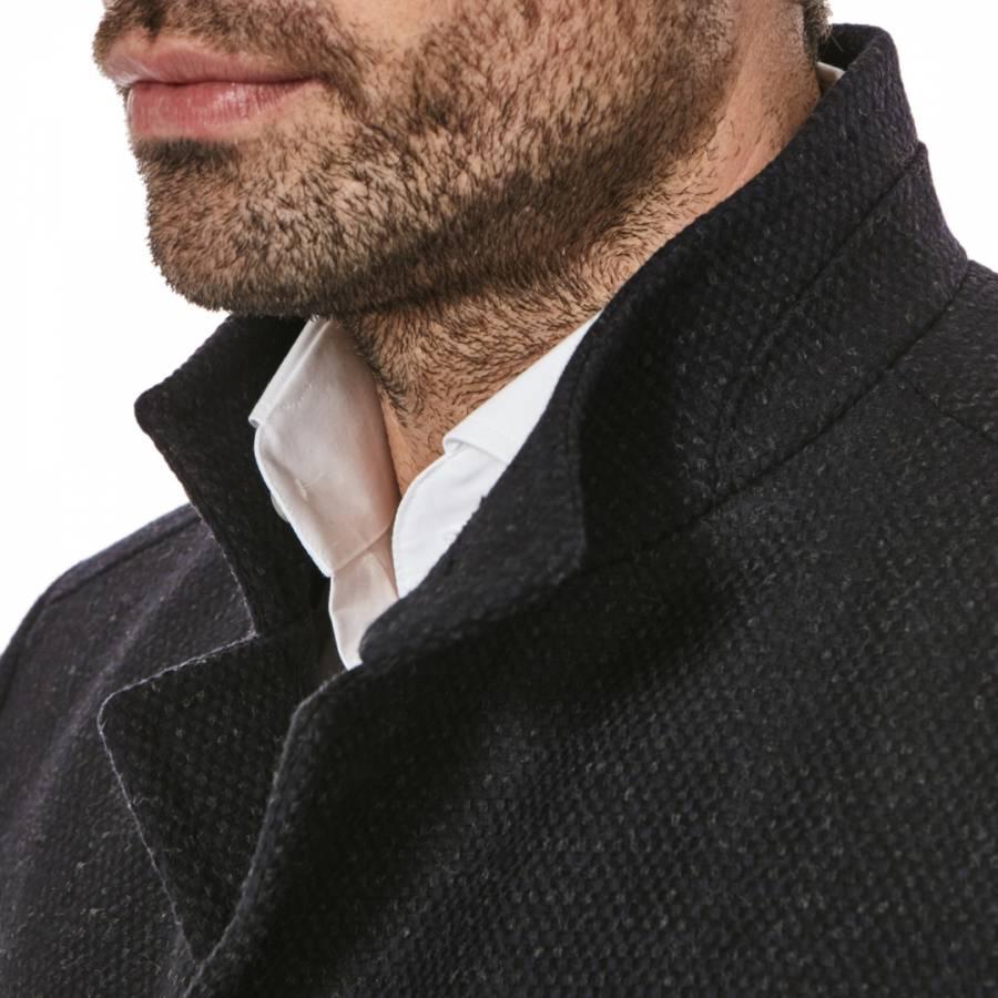 966a4f021b6f Black Sintrax Virgin Wool Cashmere Blend Coat - BrandAlley