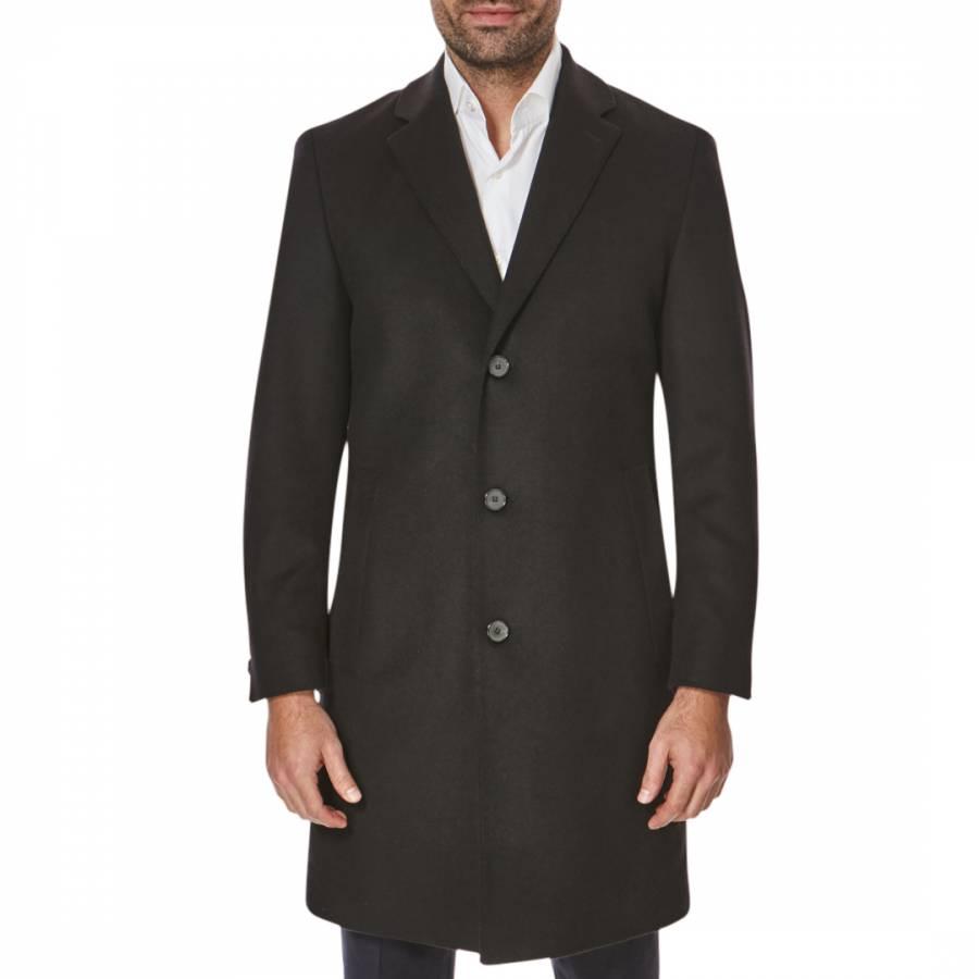Boss by Hugo Boss Black Stratus Virgin Wool/Cashmere Coat