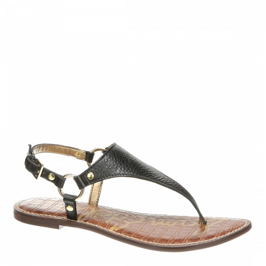 ee14525c3 Sam Edelman Black Leather Greta Thong Sandals. prev. next. Zoom