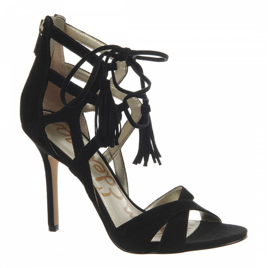 711bf6295c1a24 Sam Edelman Black Suede Azela Strappy Sandals. prev. next. Zoom