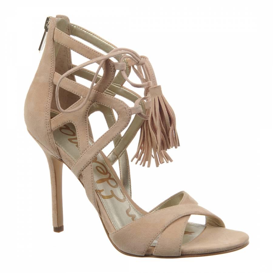 4ea3182af76e Nude Suede Azela Strappy Sandals Heel 10cm - BrandAlley