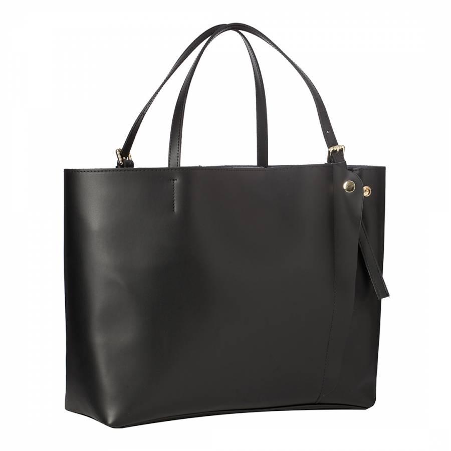 Image of Black Leather Shoulder Bag