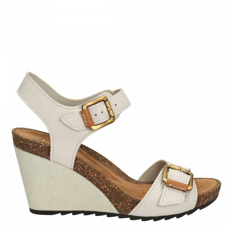 a7aaf80218b76 White Overly Sparkle Chalk Leather Sandals Heel 9cm - BrandAlley