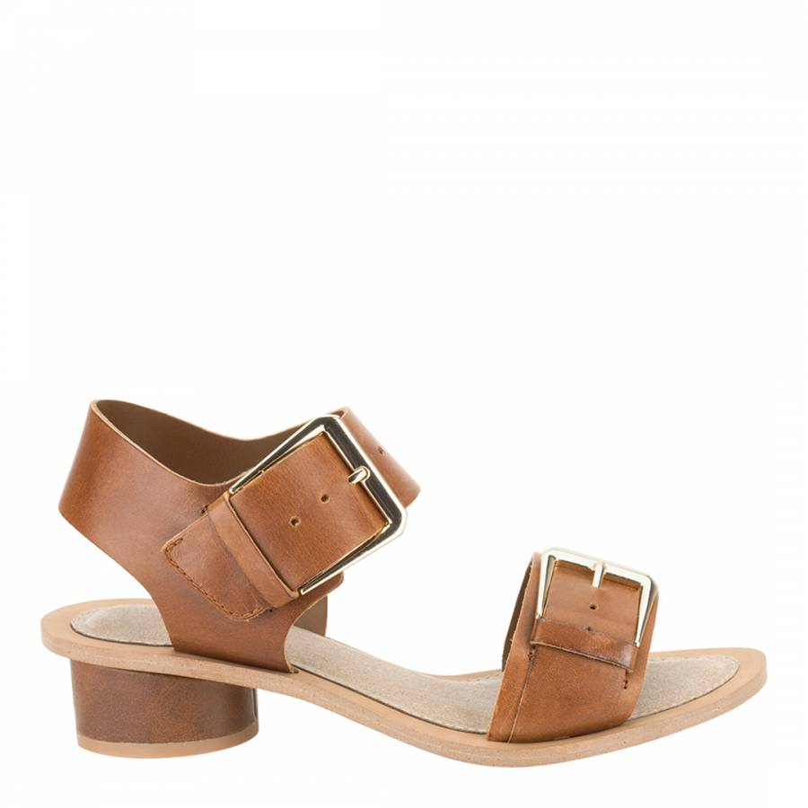 2a4819813d85d Women s Tan Leather Sandcastle Art Sandals Heel 3cm - BrandAlley