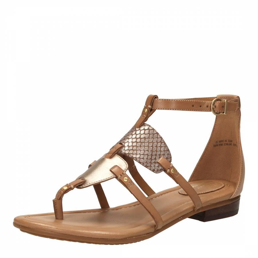 97d85be58 Women s Beige Leather Viveca Athen Ankle Strap Sandals - BrandAlley