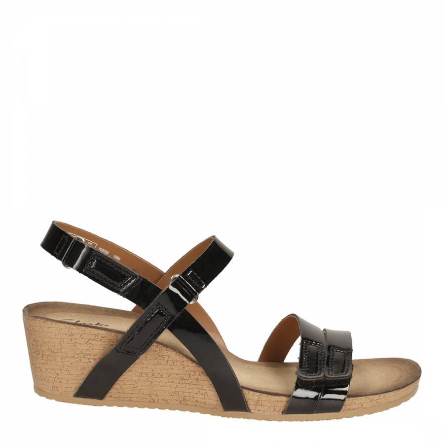 f0214e452d Wedge Women's Gull Leather Black 5cm Patent Sandals Alto Heel 5 cFqCBSFrR