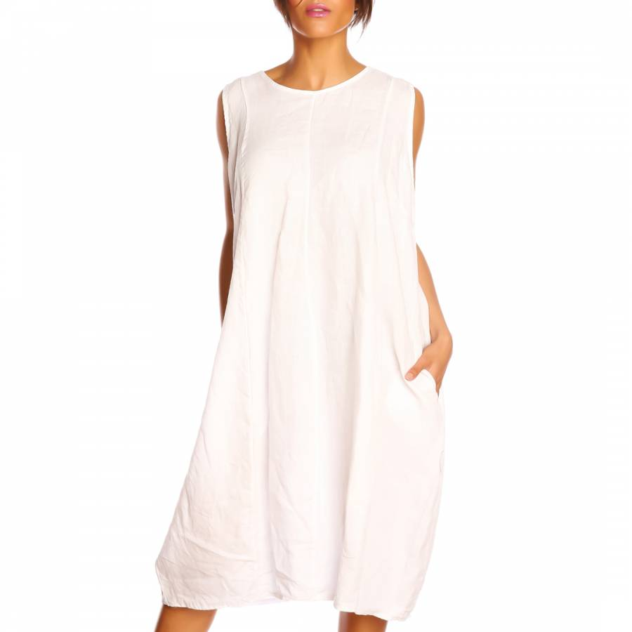 31ab435899 White Lola Linen Dress - BrandAlley