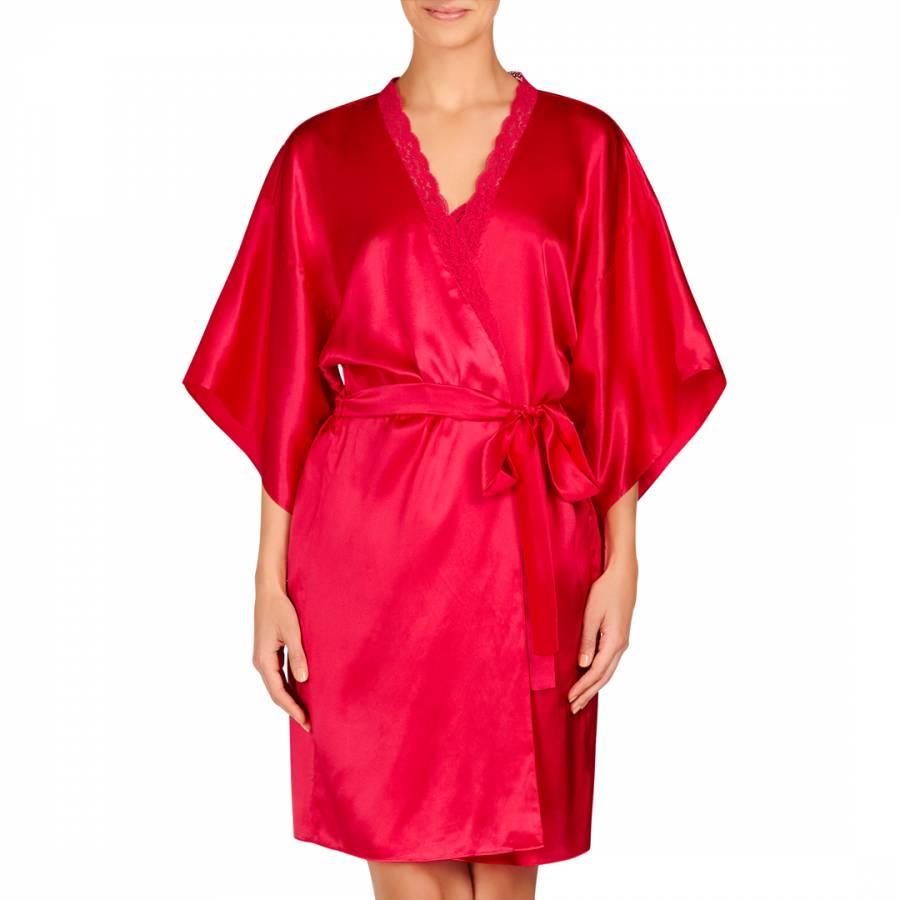 Stella McCartney Fuchsia Clara Whispering Silk Long Robe 212b8135d