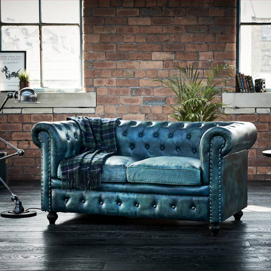 Green Leather Tilda Chesterfield Two Seater Sofa Brandalley