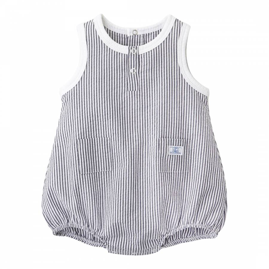 daf6f82c2c5a Baby Boy s Bloomer Striped Cotton Dungarees - BrandAlley