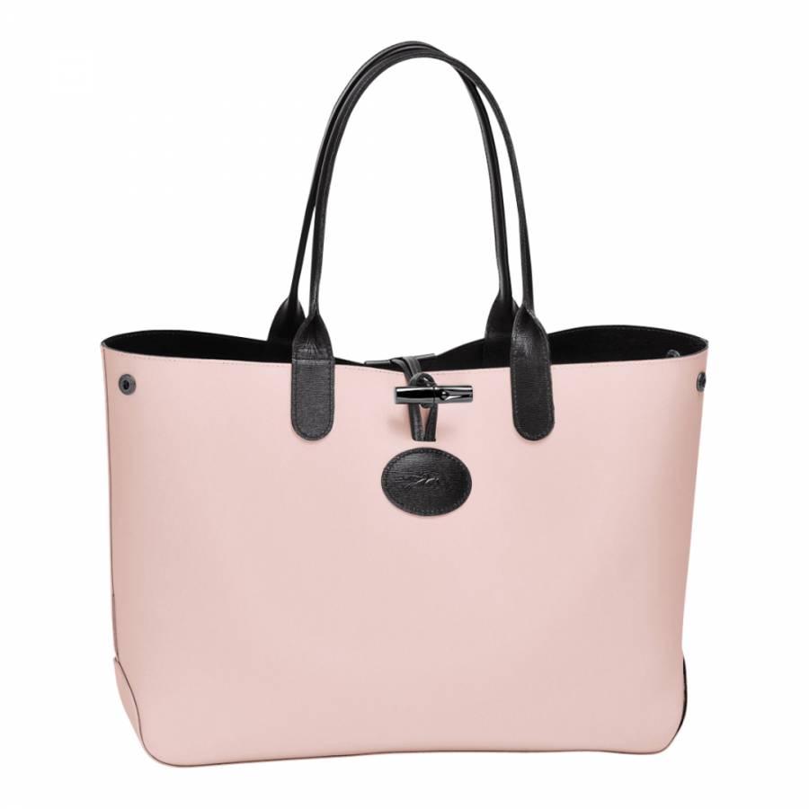 a85692cc7e9 Black/Pink Leather Roseau Reversible Tote Bag - BrandAlley