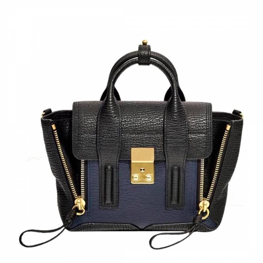 Black/Ink Leather Mini Pashli Bag