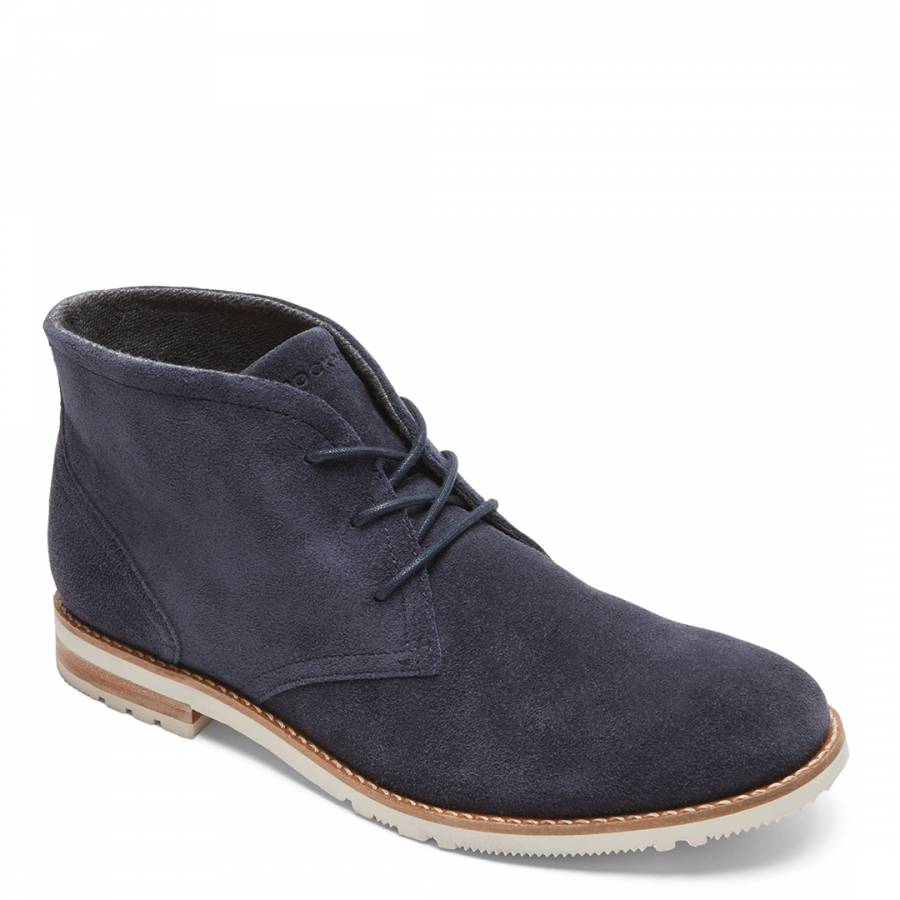 Blue Suede Lace Up Chukka Boots