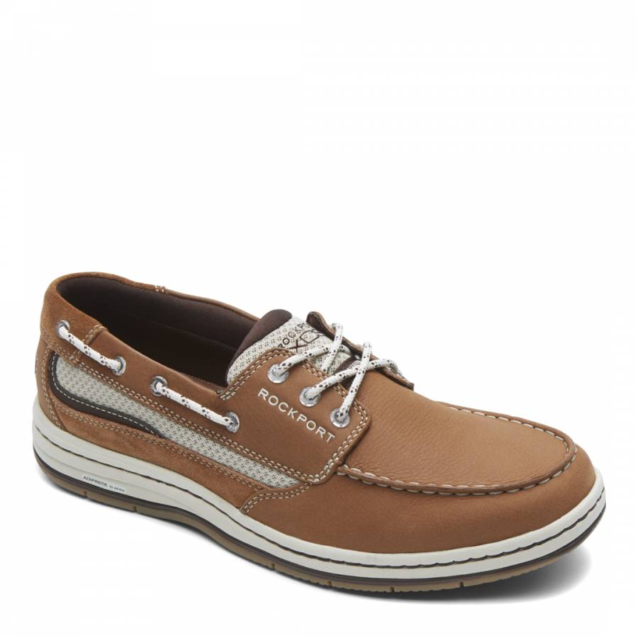 dee8e6bc3c4 Brown Leather 3 Eye Boat Shoes