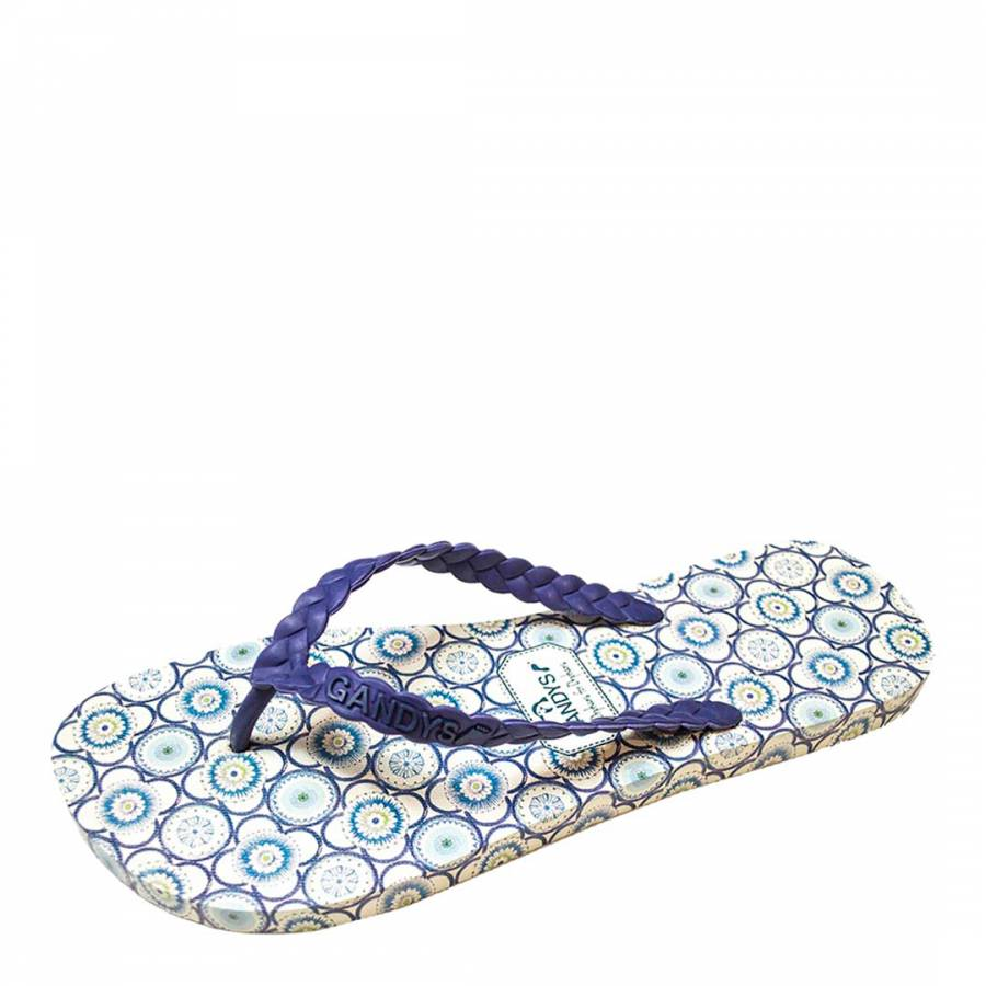 b74c57fc9863 Men s Blue And Cream Maddock Gandy s For Liberty Flip Flops - BrandAlley