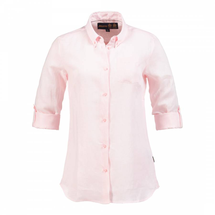 1db583bb Cool Pink Anabel Linen Shirt - BrandAlley