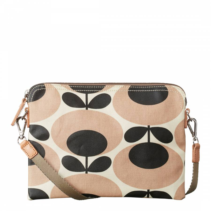 Nude/Black Giant Oval Stem Travel Pouch - BrandAlley