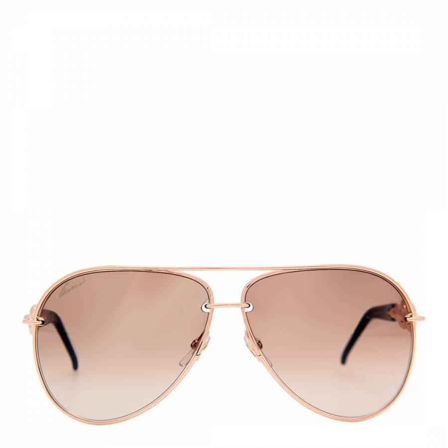 7b50d76972a Women s Rose Gold Aviator Sunglasses - BrandAlley