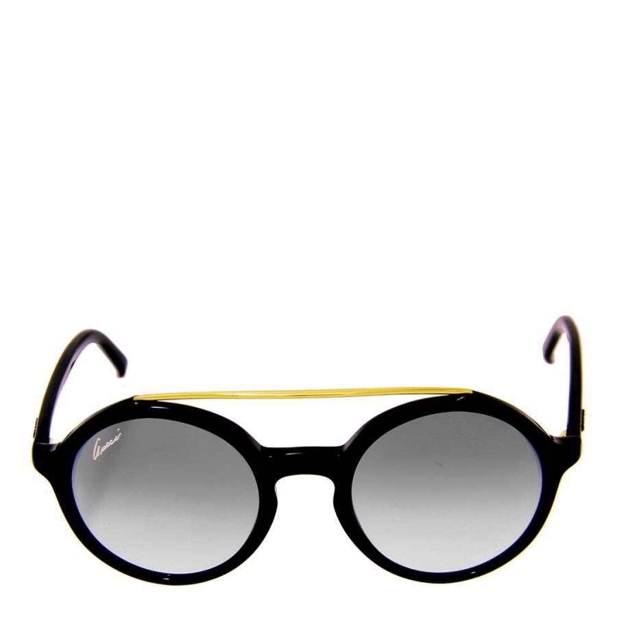 9eb908a7d9c Women s Black Gold Round Lens Sunglasses 48mm - BrandAlley