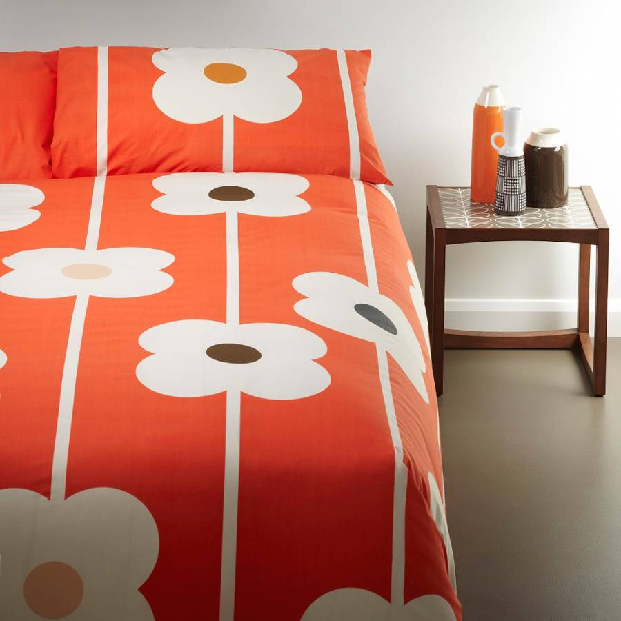 red cotton giant abacus kingsize duvet cover