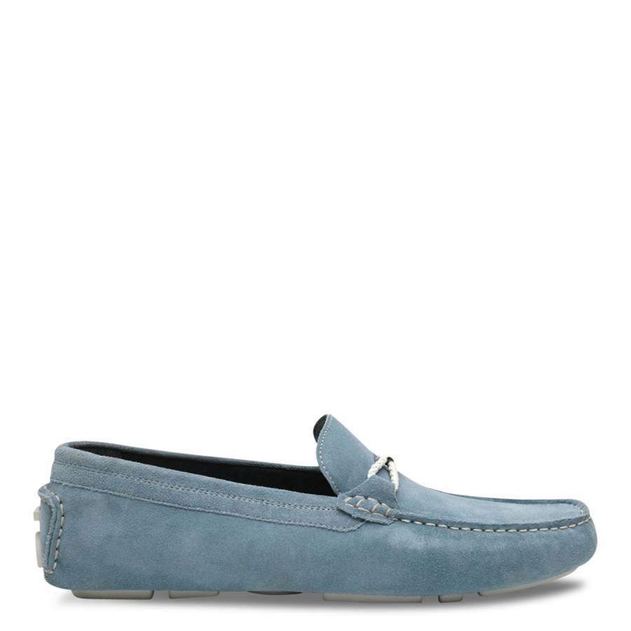 0f260b27785 Light Blue Suede Carlsun 2 Moccasins - BrandAlley