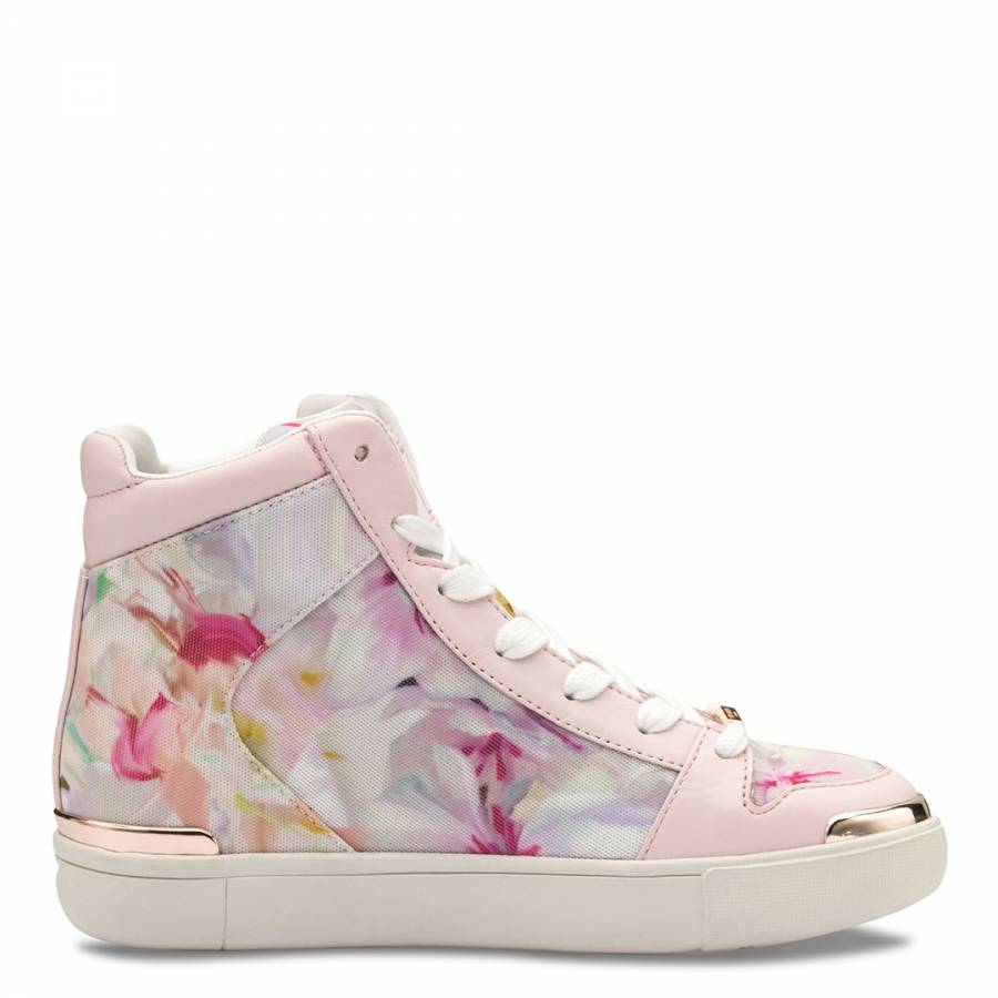 07a8b78a0 Ted Baker Multi Paryna Hanging Gardens Printed Hi Top Trainers. prev. next.  Zoom