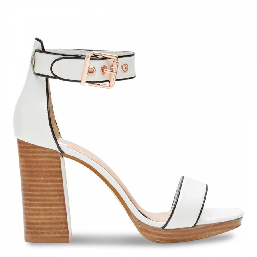 81dad7f2ac82 Ted Baker White Leather Lorno Platform Block Heeled Sandals. prev. next.  Zoom