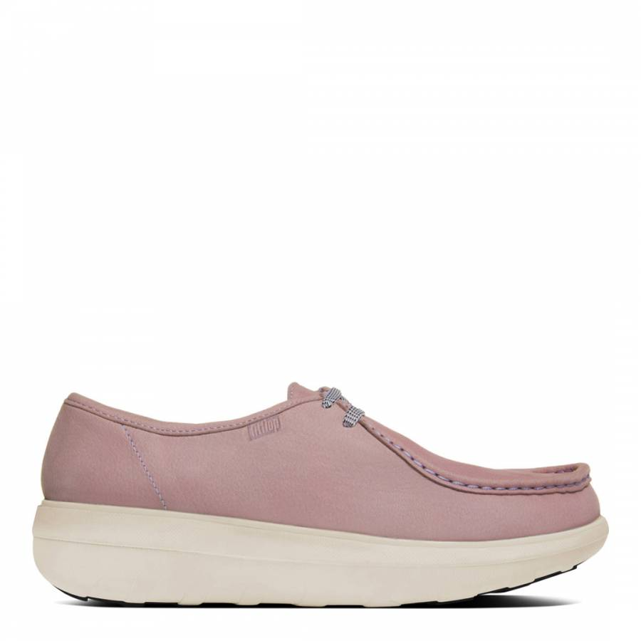 6a2f374cc Pink Leather Loaff Lace Up Shoes - BrandAlley