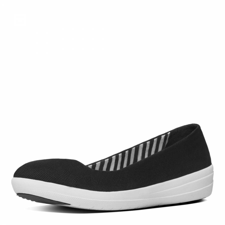 72258a2c28fea Black Canvas F Sporty Ballerina Shoes - BrandAlley