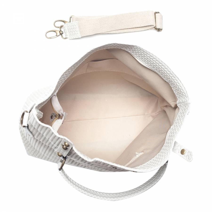 3d1812b68c Beige Leather Shoulder Bag - BrandAlley