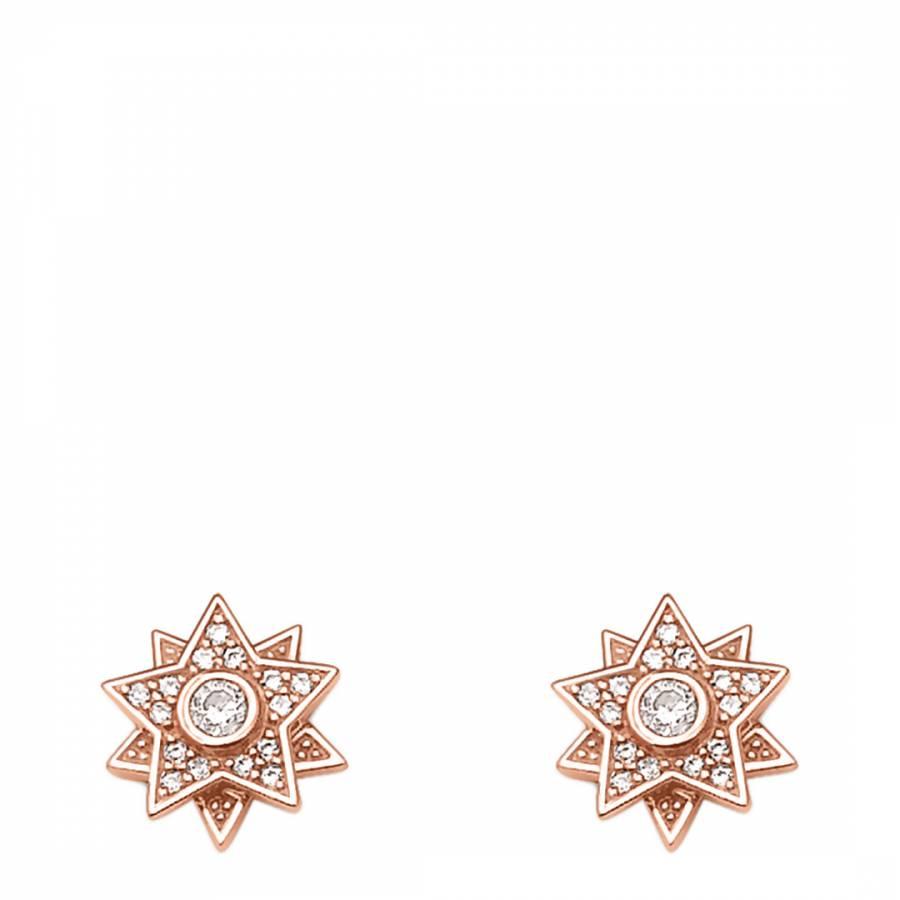Rose Gold Star Crystal Earrings Brandalley