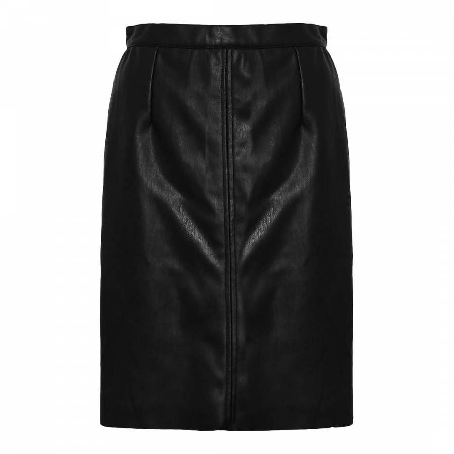 Black Rocker Leather A Line Skirt Brandalley