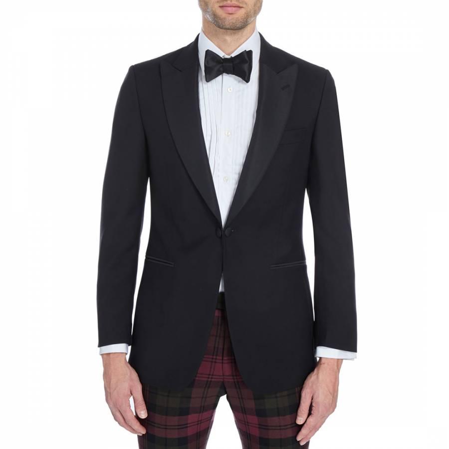 cbbfd7aa358 Hackett London Black Wool Blend Dinner Jacket