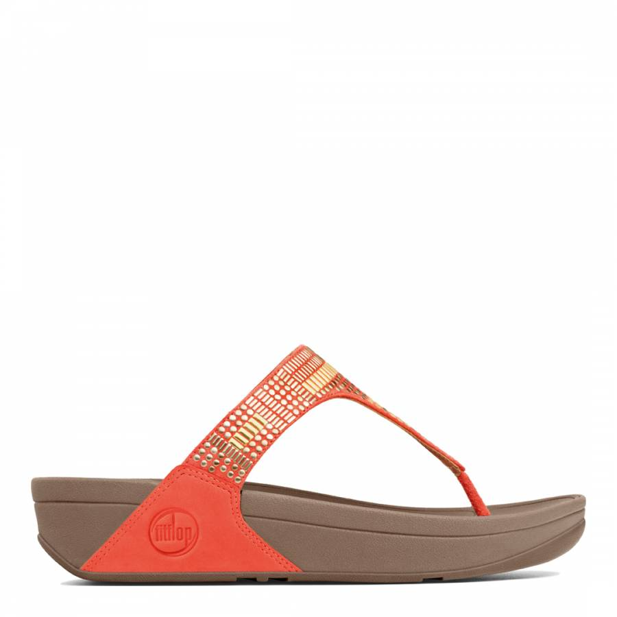 6f1fad2912d98b Ultra Orange Leather Aztec Chada Sandals - BrandAlley