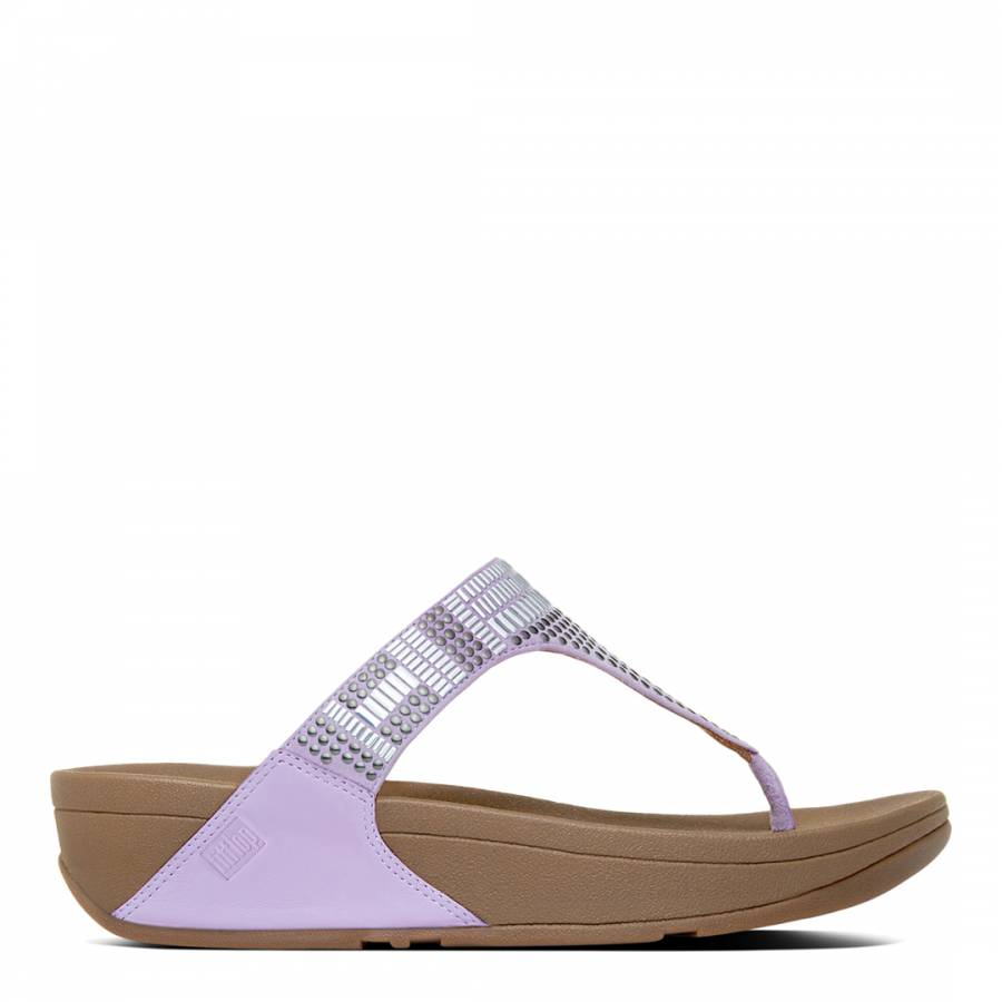 69836a75a4127c Dusty Lilac Leather Aztec Chada Sandals - BrandAlley