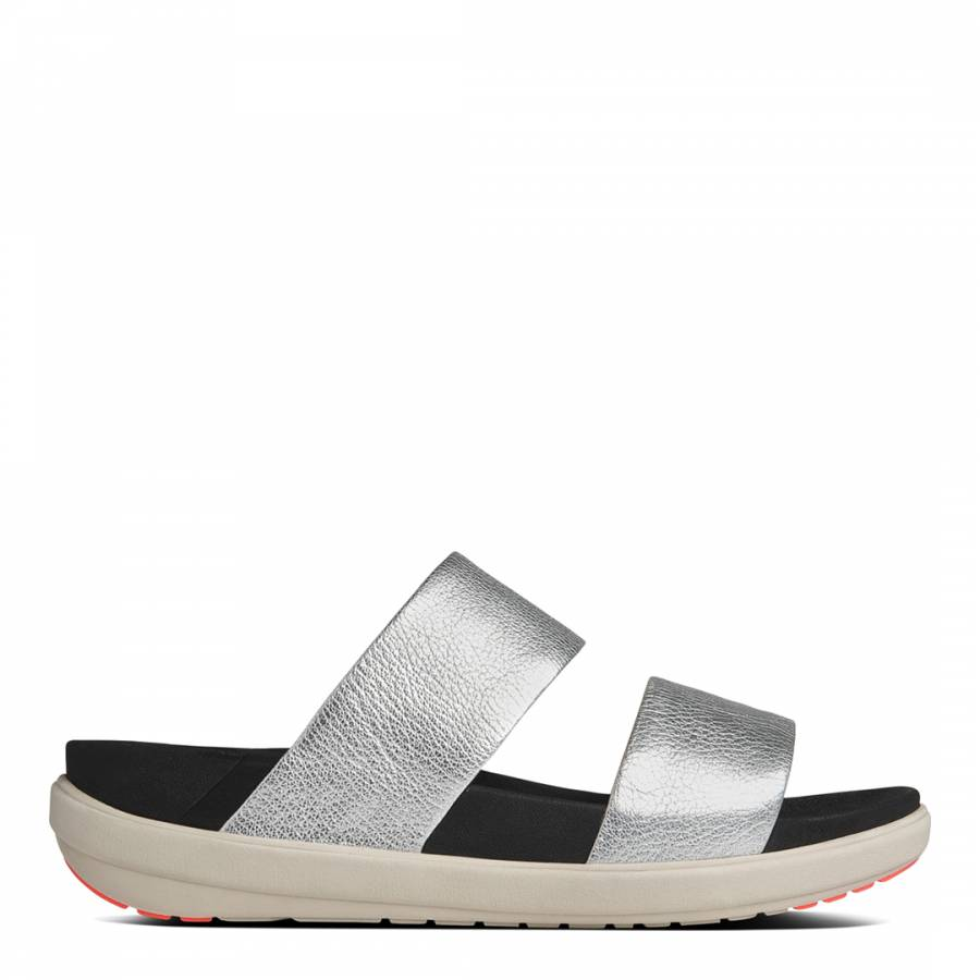 b7b916c2d94192 Silver Leather Loosh Slide Sandals - BrandAlley