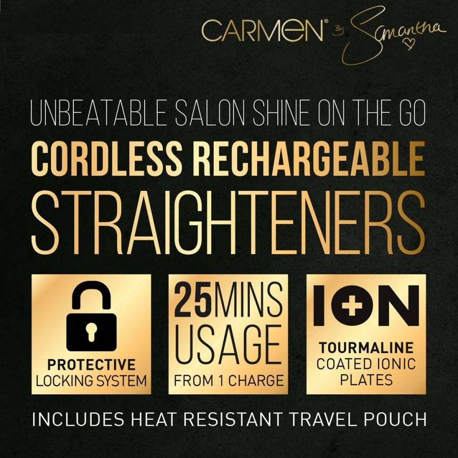 Carmen by Samantha Faiers Gold Cordless Hair Straighteners