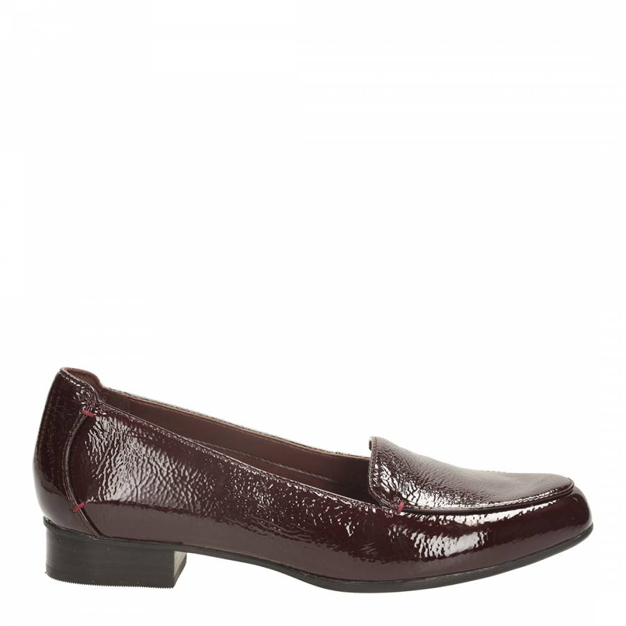 567ae939d42 Clarks Women s Burgundy Patent Leather Keesha Luca Loafers. prev. next. Zoom
