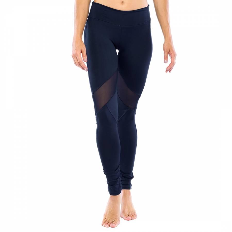 ad3ab3272ae4d Electric Yoga Navy Knee V Line Mesh Pants