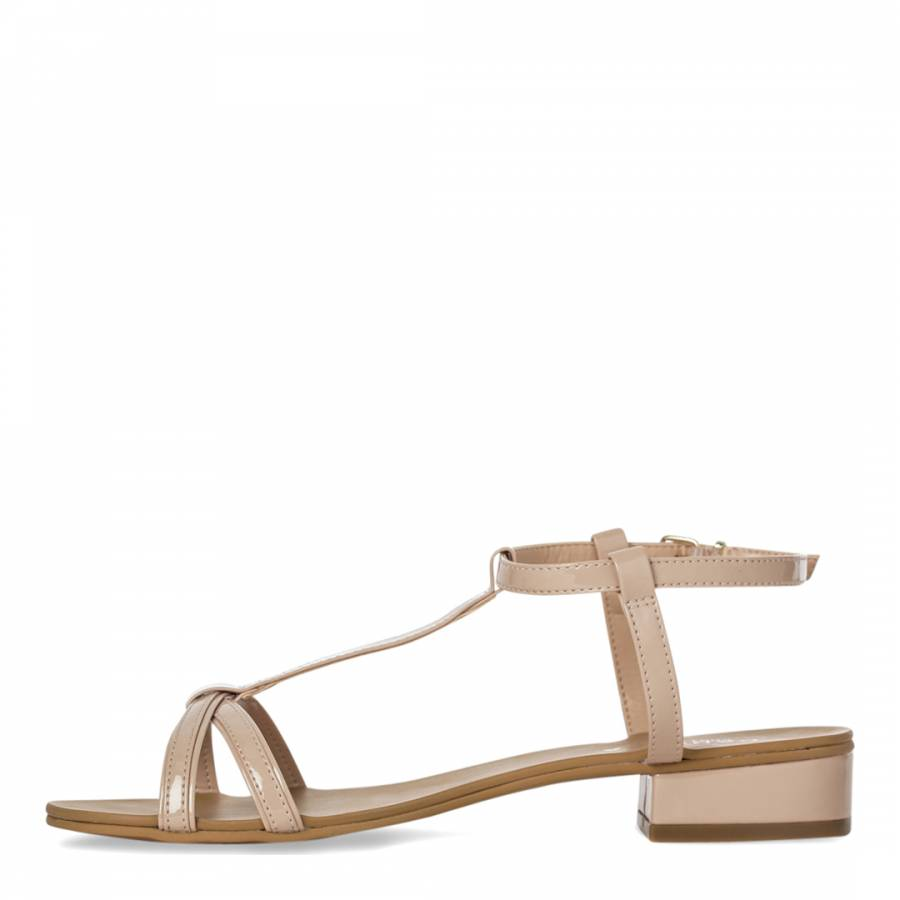 e4f3e47fc10 Nude T Bar Bounty Sandals - BrandAlley